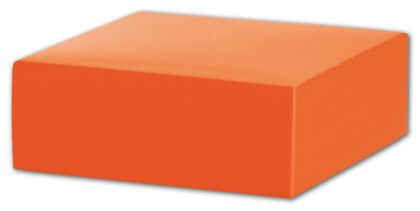 Orange Gift Box Lids, 4 x 4 x 1 1/2""