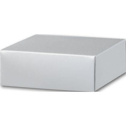 "Silver Gift Box Lids, 4 x 4 x 1 1/2"""