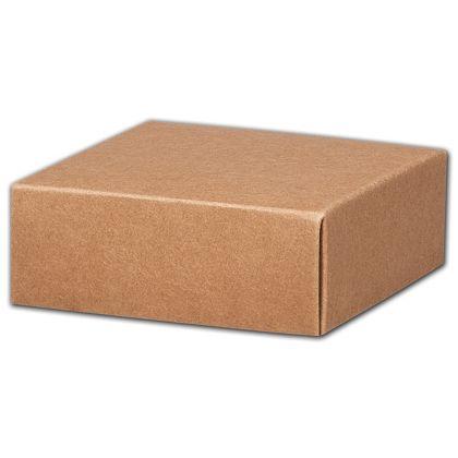 """Kraft Gift Box Lids, 4 x 4 x 1 1/2"""""""