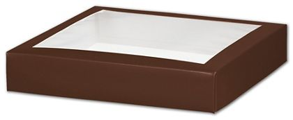 Chocolate Gift Box Lids with Window, 8 x 8 x 1 1/2""
