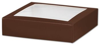 Chocolate Gift Box Lids with Window, 6 x 6 x 1 1/2