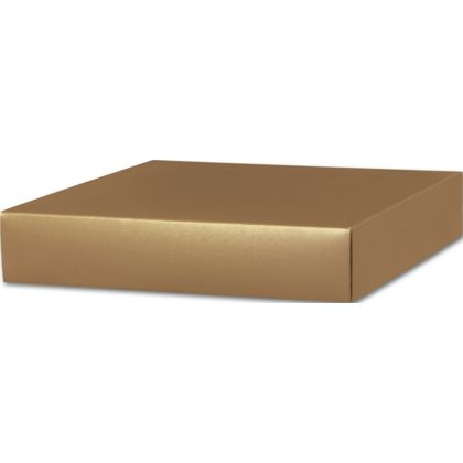 Gold Gift Box Lids, 10 x 10 x 2""