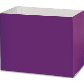 Purple Gift Basket Boxes, 8 1/4 x 4 3/4 x 6 1/4