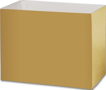 Metallic Gold Gift Basket Boxes, 8 1/4x4 3/4x6 1/4