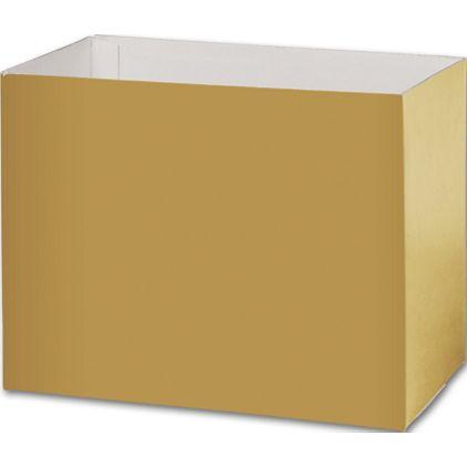 "Metallic Gold Gift Basket Boxes, 8 1/4x4 3/4x6 1/4"""