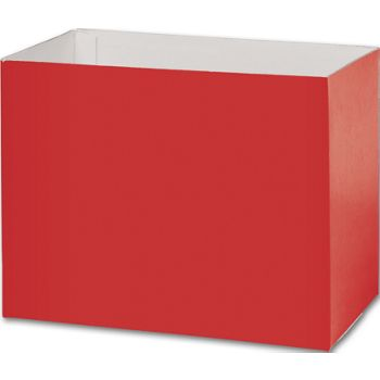 Red Gift Basket Boxes, 8 1/4 x 4 3/4 x 6 1/4