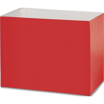 """Red Gift Basket Boxes, 8 1/4 x 4 3/4 x 6 1/4"""""""