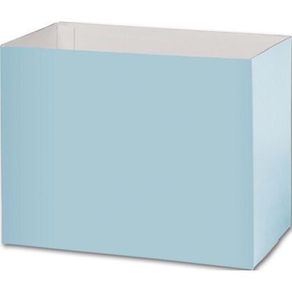Light Blue Gift Basket Boxes, 8 1/4x4 3/4x6 1/4