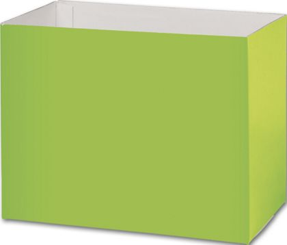 Lime Green Gift Basket Boxes, 8 1/4x4 3/4x6 1/4