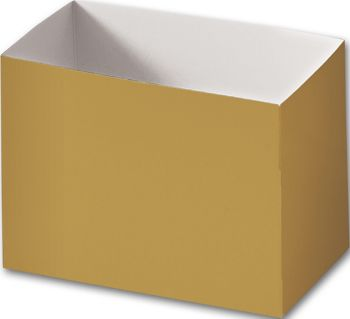 Metallic Gold Gift Basket Boxes, 6 3/4 x 4 x 5