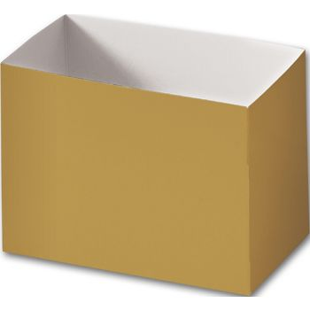Metallic Gold Gift Basket Boxes, 6 3/4 x 4 x 5""