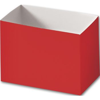 Red Gift Basket Boxes, 6 3/4 x 4 x 5