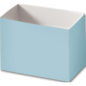 Light Blue Gift Basket Boxes, 6 3/4 x 4 x 5