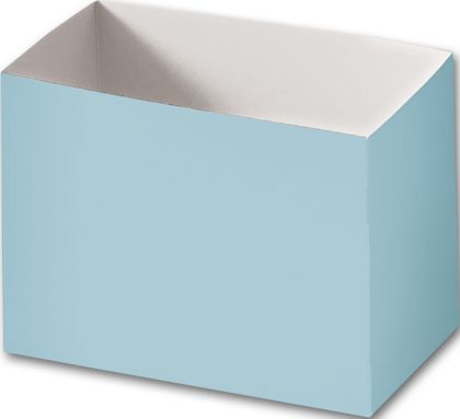 Light Blue Gift Basket Boxes, 6 3/4 x 4 x 5""