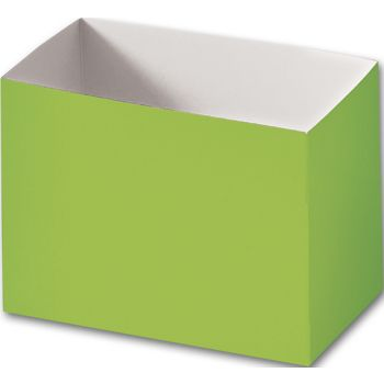 Lime Green Gift Basket Boxes, 6 3/4 x 4 x 5""