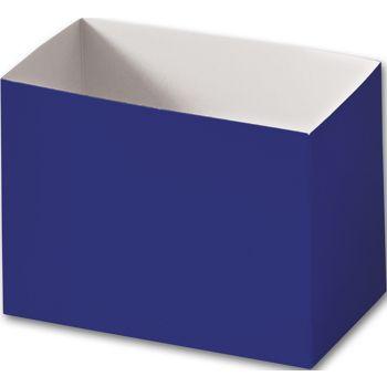 Navy Blue Gift Basket Boxes, 6 3/4 x 4 x 5