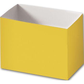 Yellow Gift Basket Boxes, 6 3/4 x 4 x 5