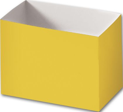 "Yellow Gift Basket Boxes, 6 3/4 x 4 x 5"""