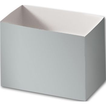 Metallic Silver Gift Basket Boxes, 6 3/4 x 4 x 5