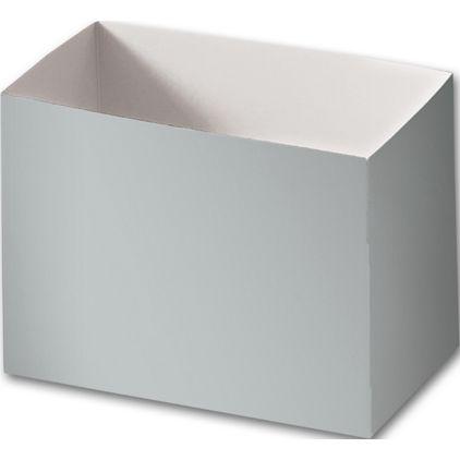 "Metallic Silver Gift Basket Boxes, 6 3/4 x 4 x 5"""
