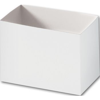 White Gift Basket Boxes, 6 3/4 x 4 x 5