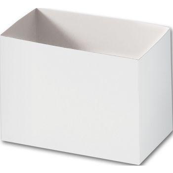 White Gift Basket Boxes, 6 3/4 x 4 x 5