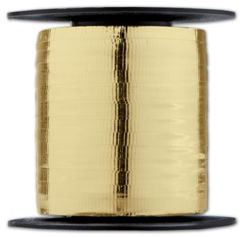 Curling Metallic Gold Crimped Ribbon, 3/16