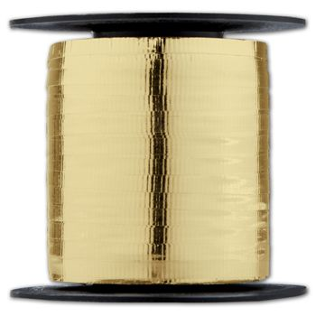 "Curling Metallic Gold Crimped Ribbon, 3/16"" x 250 Yds"