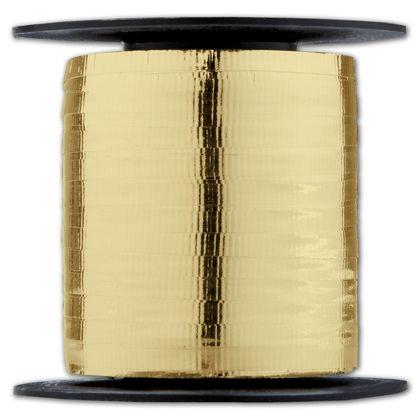 "Curling Metallic Gold Crimped Ribbon, 3/16"" x 250 Yds"