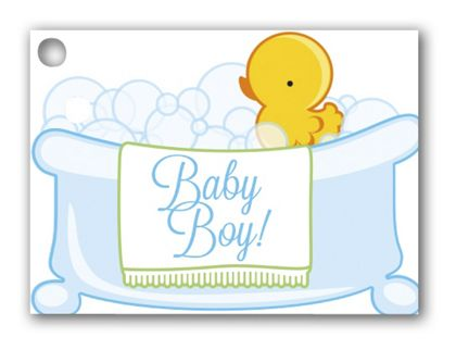 Baby Boy Bubbles Gift Tags, 3 3/4 x 2 3/4""