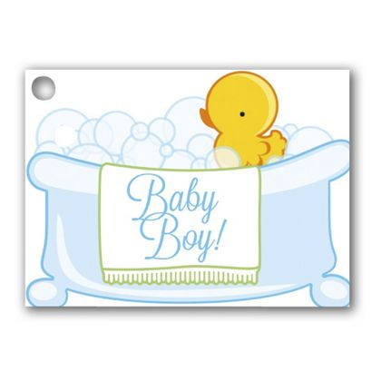 """Baby Boy Bubbles Gift Tags, 3 3/4 x 2 3/4"""""""