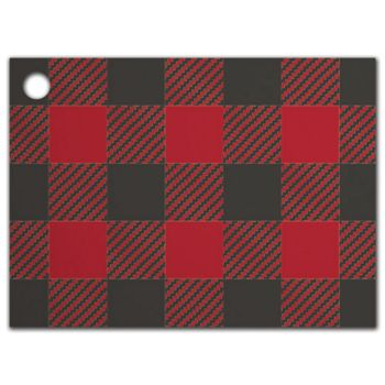 Buffalo Plaid Gift Tags, 3 3/4 x 2 3/4