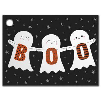 Halloween Boo Gift Tags, 3 3/4 x 2 3/4