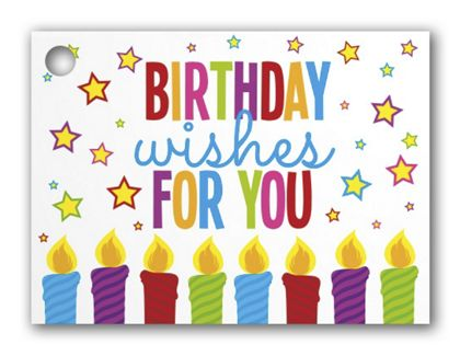 """Birthday Wishes Gift Tags, 3 3/4 x 2 3/4"""""""
