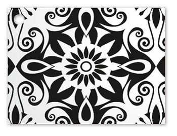 Black & White Medallions Gift Tags, 3 3/4 x 2 3/4