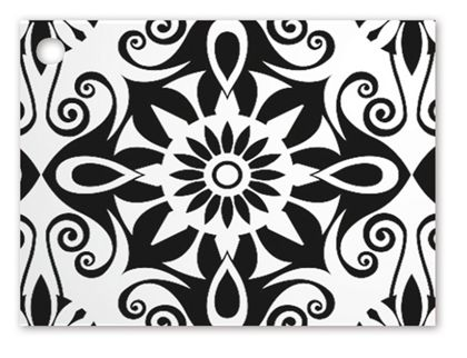 Black & White Medallions Gift Tags, 3 3/4 x 2 3/4""
