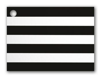 Black & White Stripes Gift Cards, 3 3/4 x 2 3/4