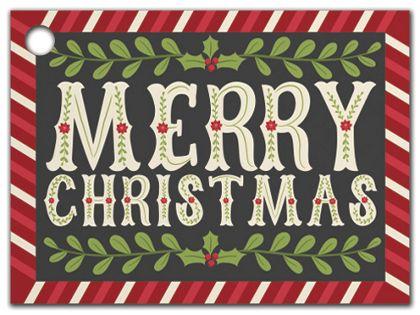 """Christmas Greetings Gift Tags, 3 3/4 x 2 3/4"""""""