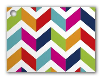 Chevron Chic Gift Cards, 3 3/4 x 2 3/4