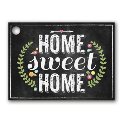Chalkboard Home Gift Tags, 3 3/4 x 2 3/4""