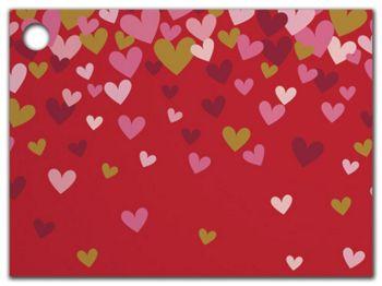 Confetti Hearts Gift Tags, 3 3/4 x 2 3/4