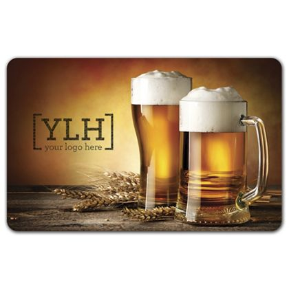 """Beer Glasses Gift Card, 3 3/8 x 2 1/8"""""""