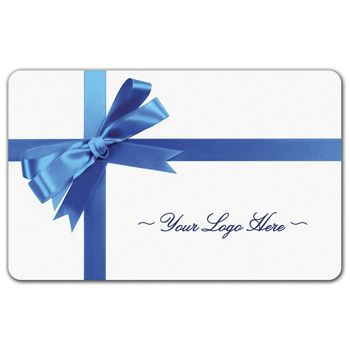 Blue Ribbon Gift Card, 3 3/8 x 2 1/8