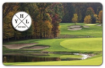 Golf Course Gift Card, 3 3/8 x 2 1/8