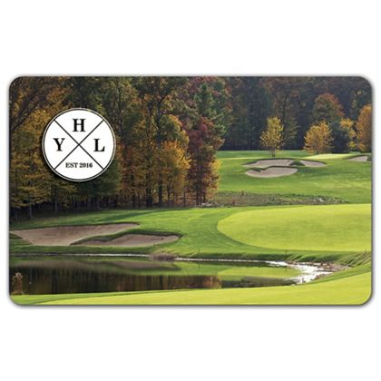 """Golf Course Gift Card, 3 3/8 x 2 1/8"""""""