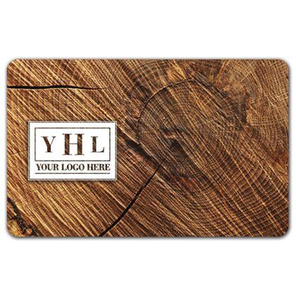 "Circle Wood Grain Gift Card, 3 3/8 x 2 1/8"""