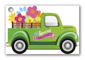 Special Delivery Gift Cards, 3 3/4 x 2 1/2