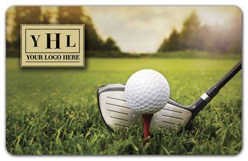 Golf Ball Gift Card, 3 3/8 x 2 1/8