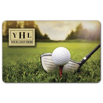 Golf Ball Gift Card, 3 3/8 x 2 1/8