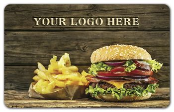 Hamburger Gift Card, 3 3/8 x 2 1/8